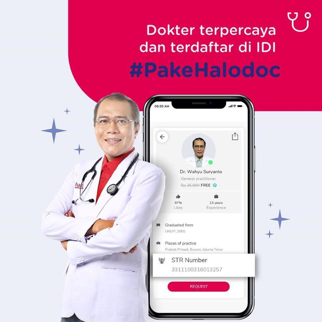 Dokter Halodoc terdaftar di IDI